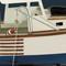 détail maquette de bateau, voilier, runabout Langoustier - 63 cm Authentic Models -AM-