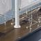 détail maquette de bateau, voilier, runabout Rainbow J 1934 - 63 cm Authentic Models -AM-