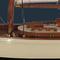 détail maquette de bateau, voilier, runabout Yacht classique 1930 Petit - 55 cm Authentic Models -AM-