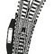 train accessory track turnout / point Model Curved Electric Right Point (H0)  ref 6077 Fleischmann
