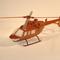 détail maquette d'helicoptère Bell 407 - 42 cm La Collection d'Avions