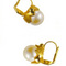 Earrings from the painting  Le Déjeuner sur l'herbe  -  gilded metal and pearl 45.00 € vat incl.