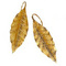 Bay-tree leaves earrings - gilded pewter (pierced ears) 50.00 € vat incl.