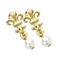 Earrings Lys Flower and Pearl – OP – Golden tin on a perforated card 19.00 € vat incl.