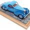 détail miniature de voiture Bugatti 57C Atalante 1937 Heco Miniatures