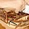 détail maquette de bateau, voilier, runabout Charles W Morgan Historic Marine