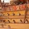 détail maquette de bateau, voilier, runabout San Fernando Historic Marine