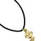 Lys flower pendant with cord - gilded pewter 9.50 € vat incl.