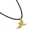Angel pendant with cord - gilded pewter 9.50 € vat incl.