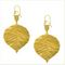 Boucles d'oreilles grandes feuilles de peuplier - OP 44.40 € ttc