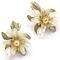 Flower and leaf  Earrings (Clips) 140.00 € vat incl.