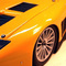 détail miniature de voiture Ferrari 575 GT road car jaune (KIT) MG Model Plus
