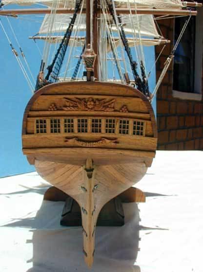 maquette bateau bois construire hermione