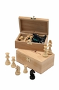 Morize-Chavet Box of chess in beech - walnut / nature n°2