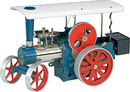 Wilesco D495 - Tracteur à vapeur bleu télécommandé