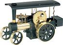 Wilesco D496 - Tracteur à vapeur noir/laiton télécommandé