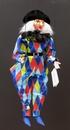 Marionnettes de France Marionnette - Arlequin bleu 45cm