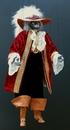 Marionnettes de France Marionnette - Chat marquis  rouge 65cm