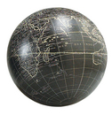Authentic Models -AM- Globe Vaugondy 18 cm noir + support