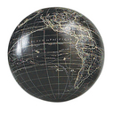 Authentic Models -AM- Globe Vaugondy noir 12 cm + support