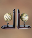 Authentic Models -AM- Pair of terrestrial and celestial globes book-ends