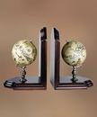 Authentic Models -AM- Paire de globes terrestre et céleste serre-livres
