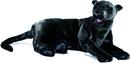 Anima Panthère noire couchée - 100 cm