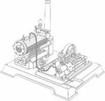 Wilesco Pompe à eau complète (D21)