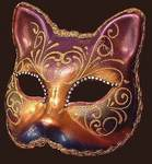 Blue Moon Mask Gatto Arco Strass