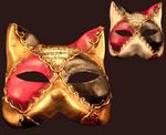 Blue Moon Mask Gatto Scacchi