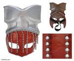 création ethnique Marcilio Barroco Orixa, Masque cuir 44.15 € ttc