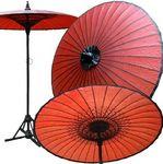 Artisans de Birmanie Big Monk Parasol from Myanmar D 2.5 Red