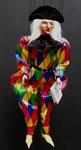 Marionnettes de France Marionnette - Arlequin jaune 45cm