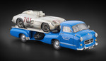 Mercedes-Benz Racing Car Transporter  The blue Wonder  + 300 SLR #701 Dirty Hero ® Bundle
