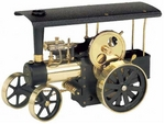 Wilesco D416 - Steam Traction Engine black-brass (similar to D406 assembled)