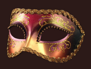Venetian mask Colmbina Arco Strass Blue Moon Mask