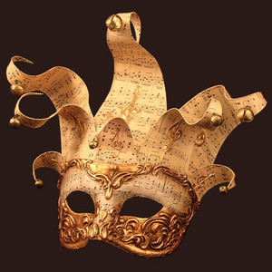 Venetian mask Colombina Jolly Music Blue Moon Mask