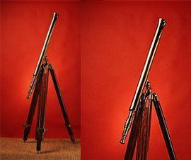 longue-vue, telescope,jumelles et loupe Longue vue laiton trépied bois massif  Quirao idées cadeaux