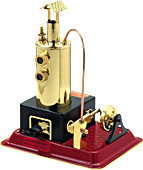 model steam engine D3 - Vertical static Steam Engine Wilesco