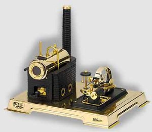 model steam engine D106 - Steam Engine black/brass Wilesco