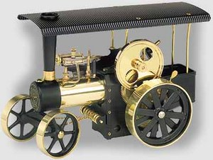 model steam engine D406 - Steam Traction Engine black/brass Wilesco