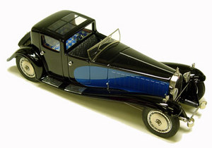 miniature de voiture Bugatti Royale Coupé du Patron Heco Miniatures Quirao idées cadeaux