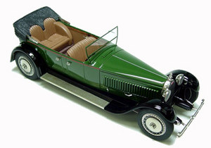 miniature de voiture Bugatti Royale designée par Packard Heco Miniatures Quirao idées cadeaux