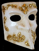 Venetian mask Bauta decor Carta Alta