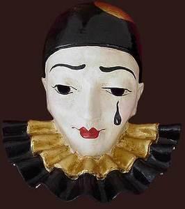 masque de Venise Pierrot Blue Moon Mask Quirao idées cadeaux