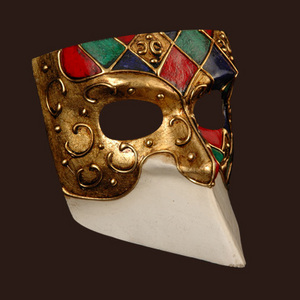 Venetian mask Bauta Ibiz Blue Moon Mask