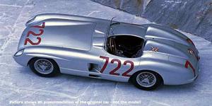 miniature de voiture Mercedes-Benz 300 SLR #722 Mille Miglia 1955 CMC Modelcars Quirao idées cadeaux