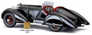miniature de voiture Mercedes SSK  Prince Noir  du Comte Trossi 1930 CMC Modelcars Quirao idées cadeaux