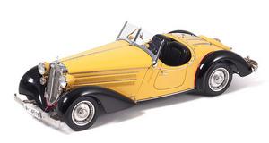 miniature de voiture Audi 225 Front Roadster, 1935 jaune et noir CMC Modelcars Quirao idées cadeaux