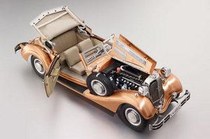 miniature de voiture Horch 853 - 1937 cuivre brut CMC Modelcars Quirao idées cadeaux